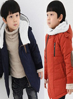 Children's clothing 2012 cotton-padded overcoat male child pure cotton-padded coat winter all-match cotton-padded jacket