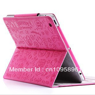 New arrival Smart Cover Lopez Leather Case For ipad 2 Ipad 3 Pu Leather Case Protector Bag for iPad Accessories free shipping