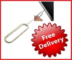 Free shipping 100pcs wholesale Sim Card Tray Remover Eject Pin Key Tool for ipad iPhone 4S 4G 3GS 3G 5(China (Mainland))