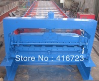 Оборудование для изготовления плитки trapezoidal roof panel Roll forming machine Auto cut to length, PLC control, metal roof machine, cold forming machine