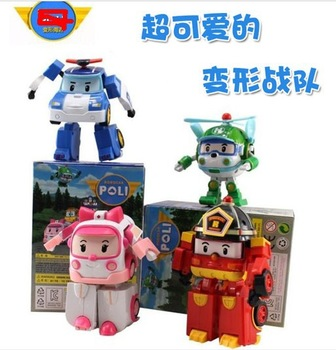 wholesale-- Robocar poli deformation car bubble South Korea Thomas toys 4models mix  4pcs/1lot