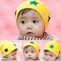 Free shipping 2013 Spring Summer Autumn Fashion Cotton Newborn baby child pocket beanie cap boy girl hat