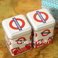 London undergound mini tank tea caddy tin box christmas gift free shipping