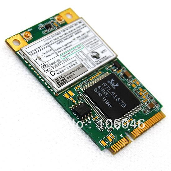 REALTEK RTL8187B MINI-PCI-e Wireless WiFi LAN Card 802.11b/g RTL8187 New (10111)(China (Mainland))