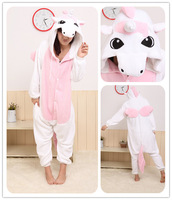 Free shipping winter pajamas fleece cartoon conjoined pyjamas animal kigurumi anime cosplay costume cute pajamas