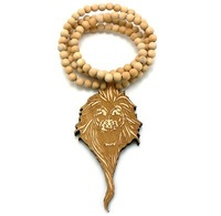NEW LION FACE GOOD QUALITY WOOD PENDANT