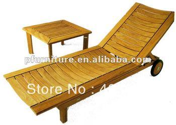 Fold up wood beach chair PFC652