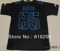New Season New style American football Impact Twill Jersey ELITE 85 Gates Antonio #85 black color jerseys