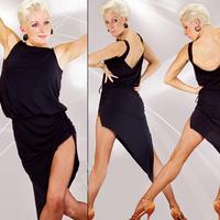 Latin dance skirt dance leotard one-piece dress square dance clothes Latin dance clothes ofdynamism oblique skirt