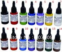 Free shipping 14 pcs MOM'S 0.5oz GREEN NUCLEAR UV BLACKLIGHT MOMs TATTOO INK