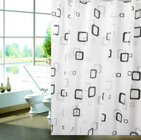 FREE SHIPPING,pvc bathroom shower curtain,Black & White Tartan Plaid ,water proof shower curtain sets,180*180cm, M182