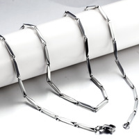 Christmas Sale 1.8mm 55cm Fashion accessories male 316L stainless steel anti-allergic non-discolouring titanium steel chain gl64