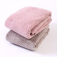 Super large waffle coral fleece phi blanket plush blanket summer air conditioning blanket