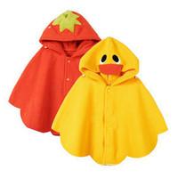 Baby cloak, baby strawberry cape, Children ducklings coat, baby shawls