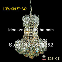 C9177 christmas party decorative crystal chandelier , led indoor hanging ball light(China (Mainland))