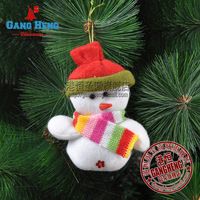 Christmas 10 8cm cloth snowman christmas tree decoration pendant 10g