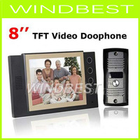 640x480 Resolution 8 inch LCD Video Door Phone Doorbell Night Version Intercom Home Security Video system Work Under Zero Degree