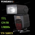 Yongnuo YN-568EX HSS up to 1/8000s Wireless TTL Slave Flash for Canon 5D Mark II III 7D 60D 650D 600D 550D 6D 450D 1100D