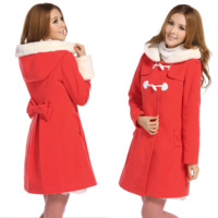 2012 women's outerwear hooded slim wool woolen overcoat medium-long female outerwear