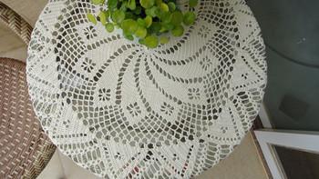 Hot sale handmade crochet tablecloth 100x100cm crochet round doily