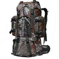 Free Shipping 60L Camouflage Hunting Backpack realtree camo hiking camping Travel Bag Backpack 60L outdoor Bag Backpack