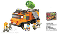 Building Block Set SlubanB105 lighting command vehicle Model Enlighten Construction Brick Toy Educational Toy for Children