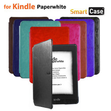 Kindle paperwhite leather case slim smart cover case for Amazon kindle paperwhite Wholesale 1pcs/lot Free shipping(China (Mainland))