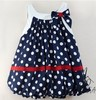 Retail wholesale baby dress /soft and cute bowkont princess dress baby girl/sleeveless cool summer/Free shipping honey baby HB38(China (Mainland))