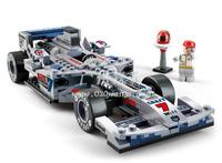 Building Block Set SLuBanM38-B0352 Formula car 2 / unto the silver arrows F1 car ,3D  Block Model,Educational