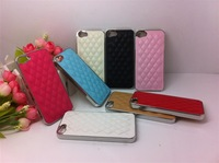 100pcs/lot Luxury Bling Chrome Leather Case for iPhone 5 5G