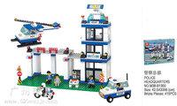 Building Block Set SLuBanM38-B1300  City police/police headquarters 415PCS,3D Block Model,Educational