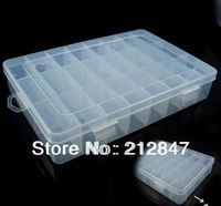 Sundries Components Plastic Assort Case Storage Collect Box Clear White free shipping