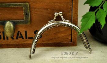 FREE SHIPPING 20pcs 8CM Glossy Silver Metal Purse Frame Purse Accessory  BOBO DIY B201347