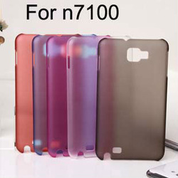 wholesale-Ultra-thin 0.5mm transparent double Matte Moblie Cover CASE FOR Samsung Galaxy Note2 N7100 ,Free Shipping 500pcs/lot(China (Mainland))