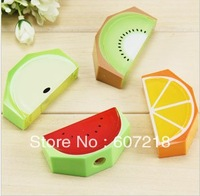 Lovely fruit pencil sharpener cutting pen device students prizes creative gift new fancy stationery 10 g