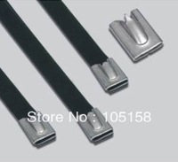 304 stainless steel cable tie PVC coated 4.6*300