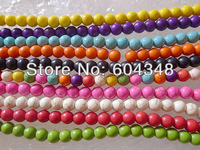 8MM 500PCS(10 Strands) In 10 Colors Wholesale Howlite Turquoise Gemstone Loose Beads Fit Jewelry Making Findings Free Shipping