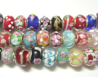 EMS Free Shipping 500pcs/Lot Gold Mix Style Murano Lampwork Glass European Beads For Charm Bracelet Necklace C21