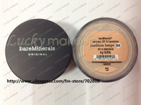 New Prevent bask loose powder,bareMinerals bare Minerals Escentuals  SPF15 Foundation, 8g(30 pcs/lots)haven't box 30pcs