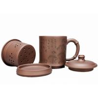 Jade yixing cup teapot tea set gift purple clay tea cup set cup