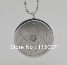 2PCS/LOT Hot Fashion Energy Pendant Stainless Steel Pendant Quantum Science Pendant white crystal energy pendant stainless chain(China (Mainland))