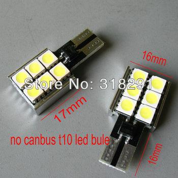 T10 6smd 5050 Car LED no  CANBUS ERROR FREE  W5W T10 Interior Lighting No polarity Aluminum radiator