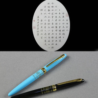 Free shipping lady with fountain pen students practice calligraphy pen and business 0.5 mm blue, black, yellow