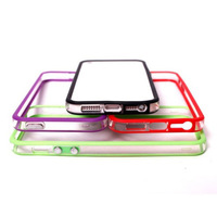 wholesale 1000pcs/lot high quality bumper TPU case for iphone5 free shipping DHL