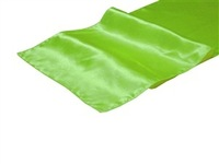 """20 pieces 12""""x108"""" Apple agreen Satin Table Runner Wedding Party Banquet Decoration Free S/H"""