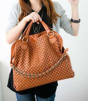 Korean  elegant in texture  knit Bag chain Shoulder Bag Satchel Handbag, women's totes bag! Hot sale!