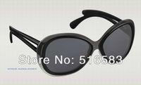2012 New brand In original box flore oversize Sunglasses Polishing black grey lens and Purplish red Graphite jade Leisure Trend