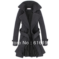 Free shipping wool coat for women fashion women's winter coat medium-long double breasted wool coat female slim outerwear