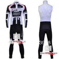 Free Shipping!! Winter thermal fleece cycling jersey+BIB pants bike sets clothing for 2013 BMC team