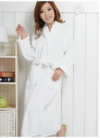Lovers 100% cotton towel fabric thickening clothing long design toweled bathrobes general chromophous ,Free shipping